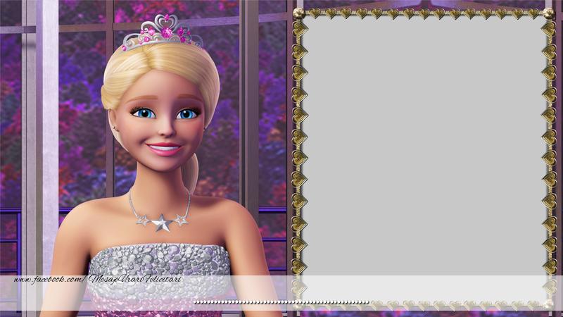 Felicitari personalizate pentru copii - Poza ta cu Barbie!
