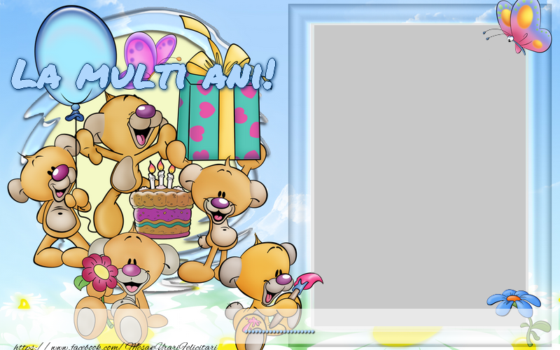Felicitari personalizate pentru copii - La multi ani ...
