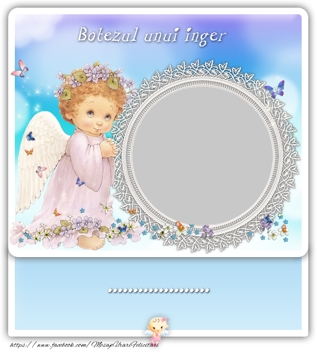 Felicitari personalizate pentru copii - Botezul unui inger ...
