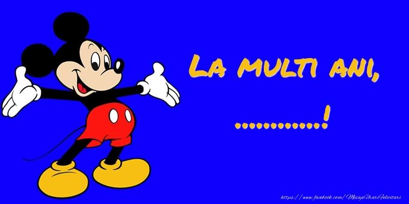 Felicitari personalizate pentru copii - Felicitare cu Mickey Mouse: La multi ani, ...!