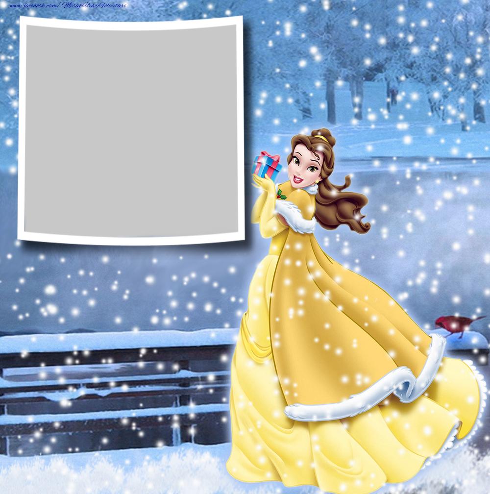 Felicitari personalizate pentru copii - Rama foto de iarna