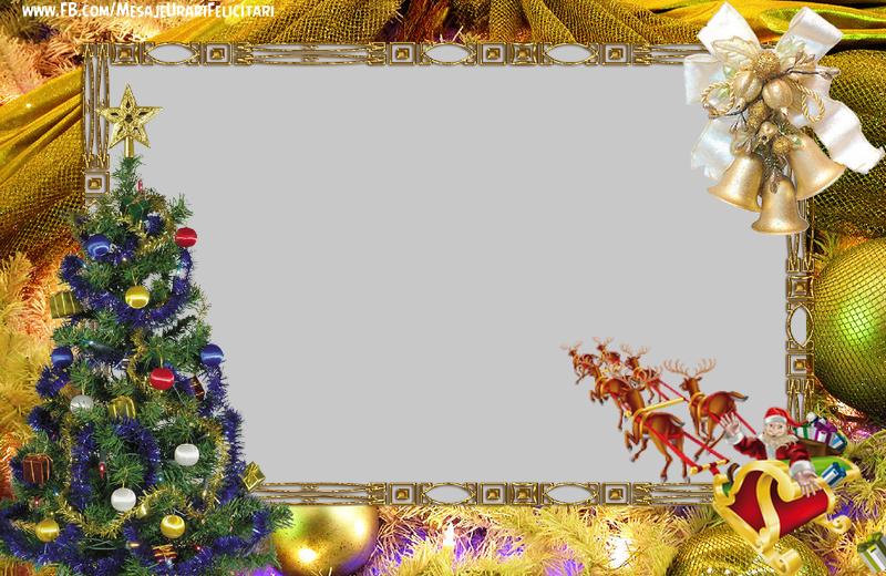 Felicitari personalizate de Craciun - Peisaj de iarna