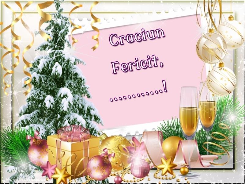 Felicitari personalizate de Craciun - Craciun Fericit, ...!