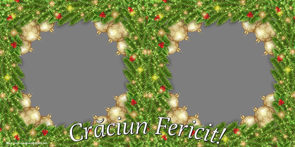 Felicitari personalizate de Craciun - Crăciun Fericit! - Rama foto de Craciun Sarbatori Fericite! - Rama foto de Craciun (2 poze)