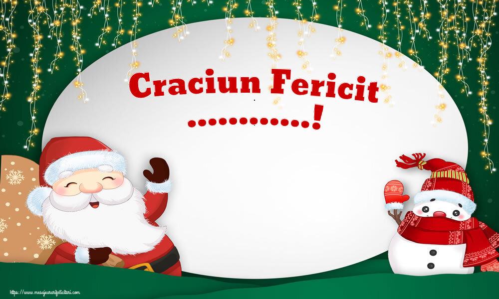 Felicitari personalizate de Craciun - Craciun Fericit ...!