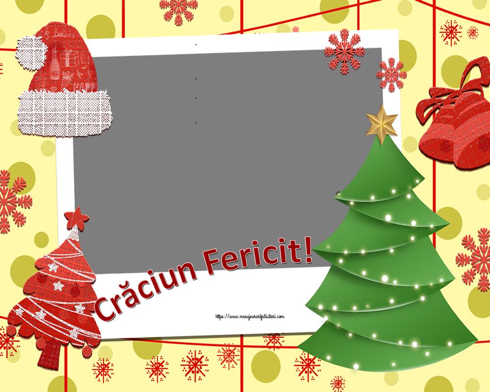 Felicitari personalizate de Craciun - Crăciun Fericit! - Rama foto de Craciun