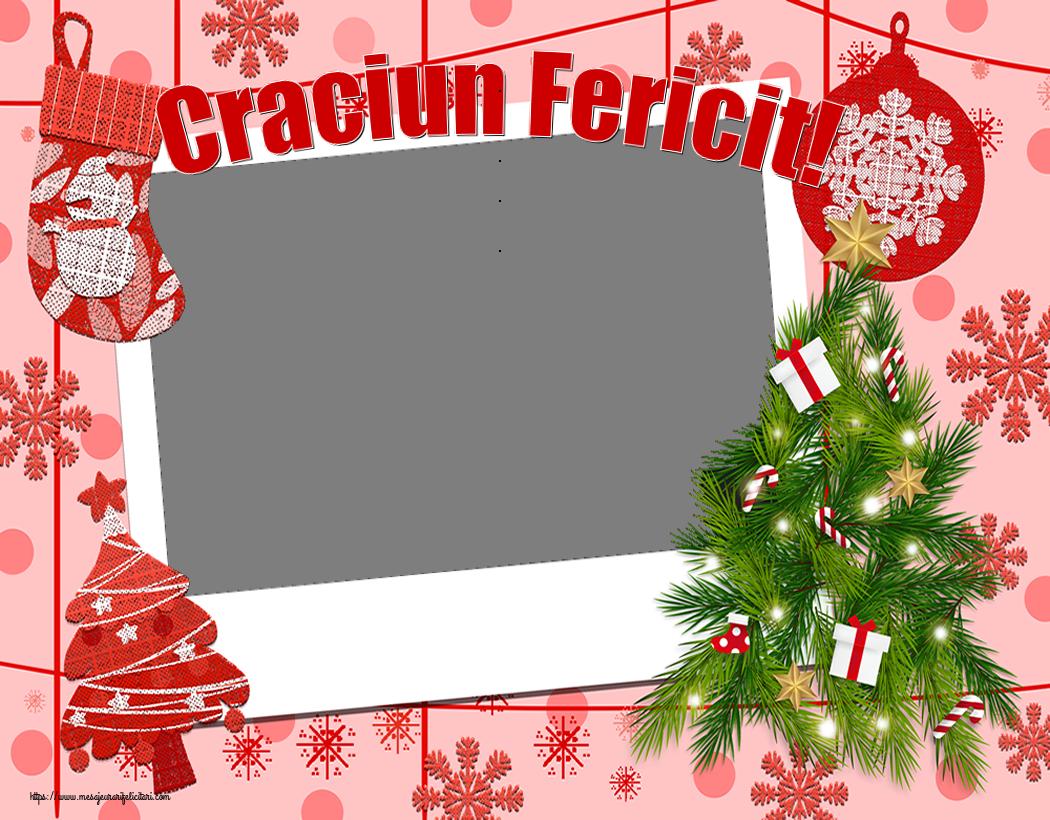 Felicitari personalizate de Craciun - Craciun Fericit! - Rama foto de Craciun