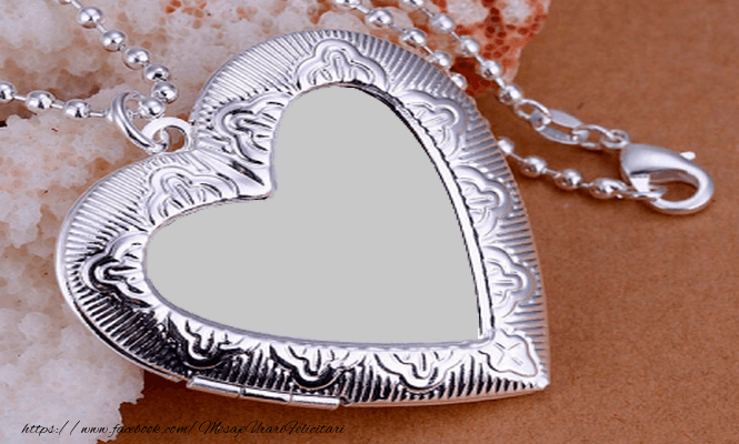 Felicitari personalizate de dragoste - Medalionul tau!