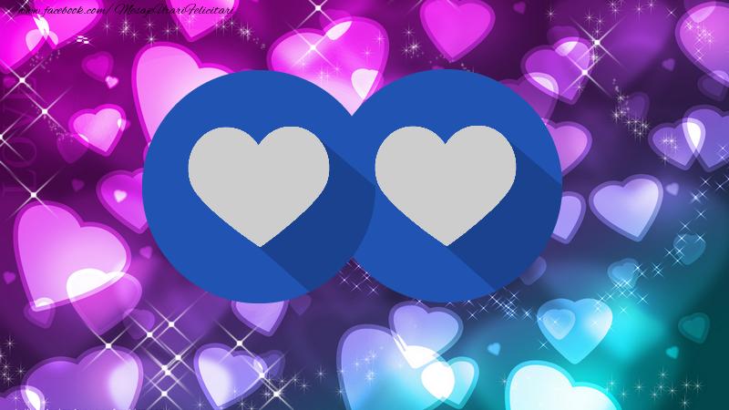 Felicitari personalizate de dragoste - Doua inimi