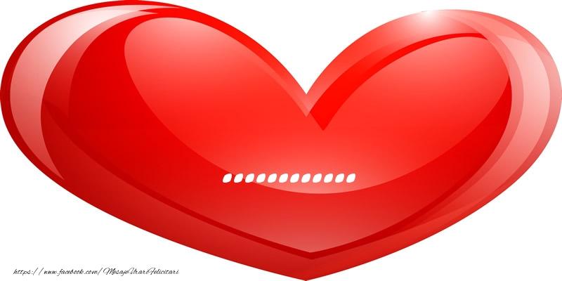 Felicitari personalizate de dragoste - Numele ... in inima