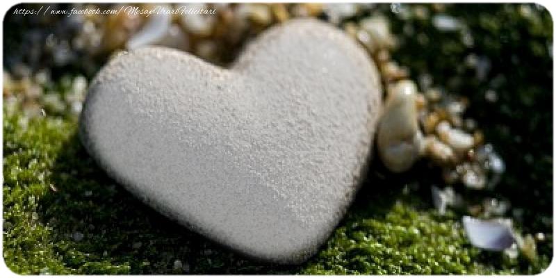 Felicitari personalizate de dragoste - Inima personalizata