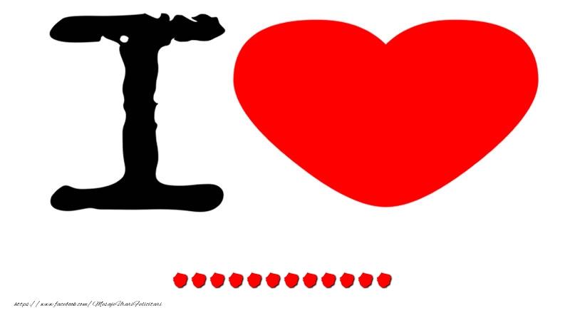 Felicitari personalizate de dragoste - I Love ...
