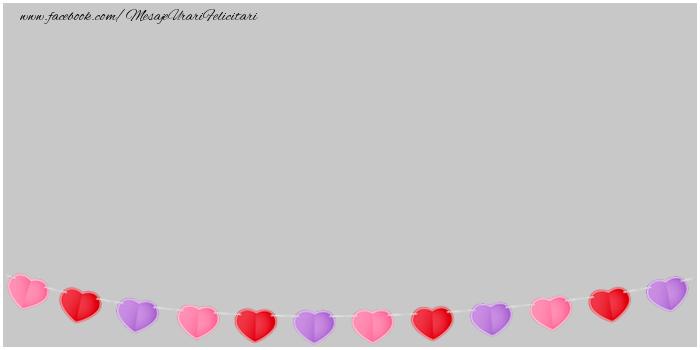 Felicitari personalizate de dragoste - Poza cu inimi