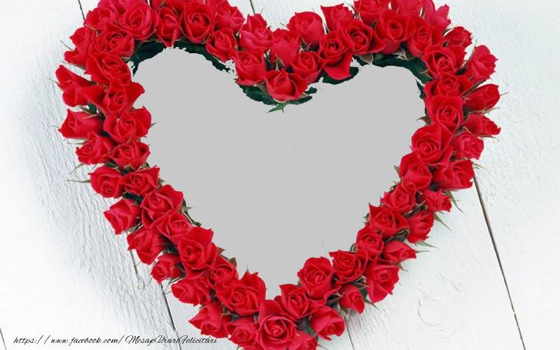 Felicitari personalizate de dragoste - Poza din inima
