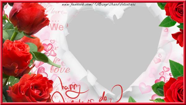 Felicitari personalizate de dragoste - Rama foto personalizate cu inima