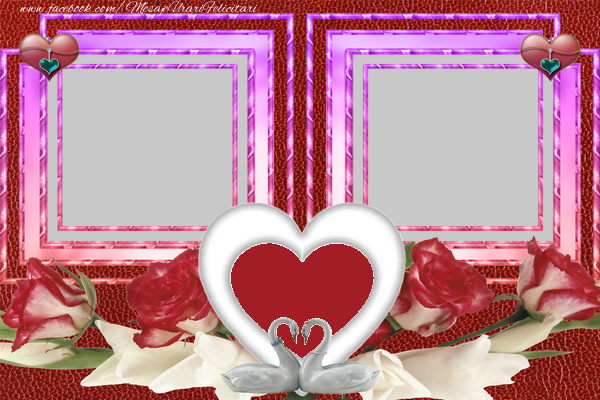 Felicitari personalizate de dragoste - Rama foto dubla