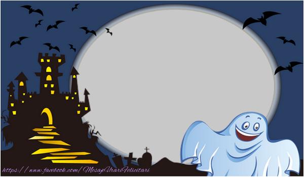 Felicitari personalizate de Halloween - Fantoma de Halloween