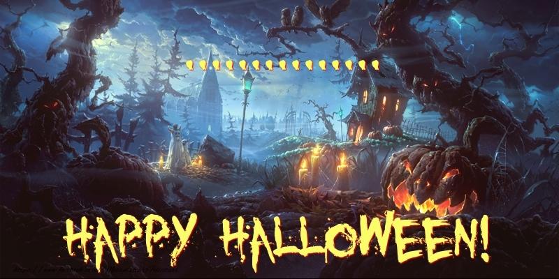 Felicitari personalizate de Halloween - ... Happy Halloween!