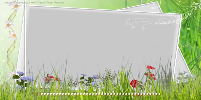 Felicitari personalizate de la multi ani - Felicitare cu flori, poza si text
