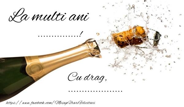 Felicitari personalizate de la multi ani - La multi ani ..., cu drag, ...