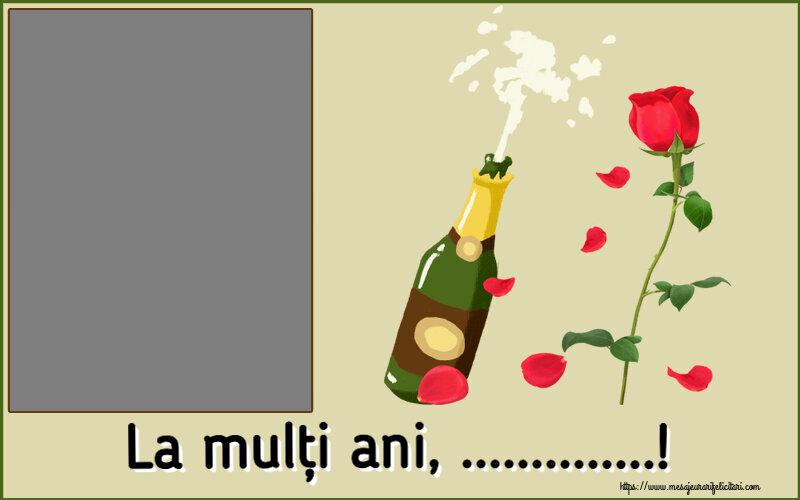 Felicitari personalizate de la multi ani - La mulți ani, ...! - Rama foto