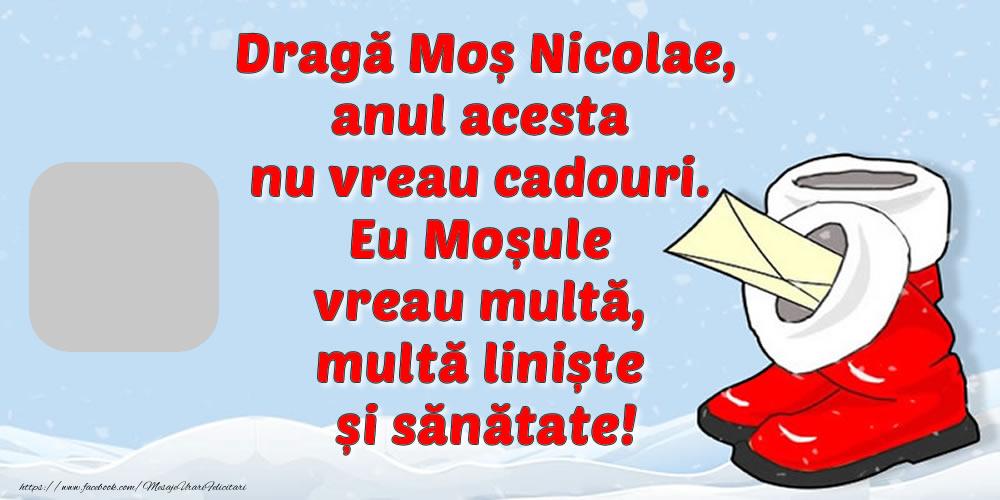 Felicitari personalizate de Mos Nicolae - Scrisoare pentru Moș Nicolae