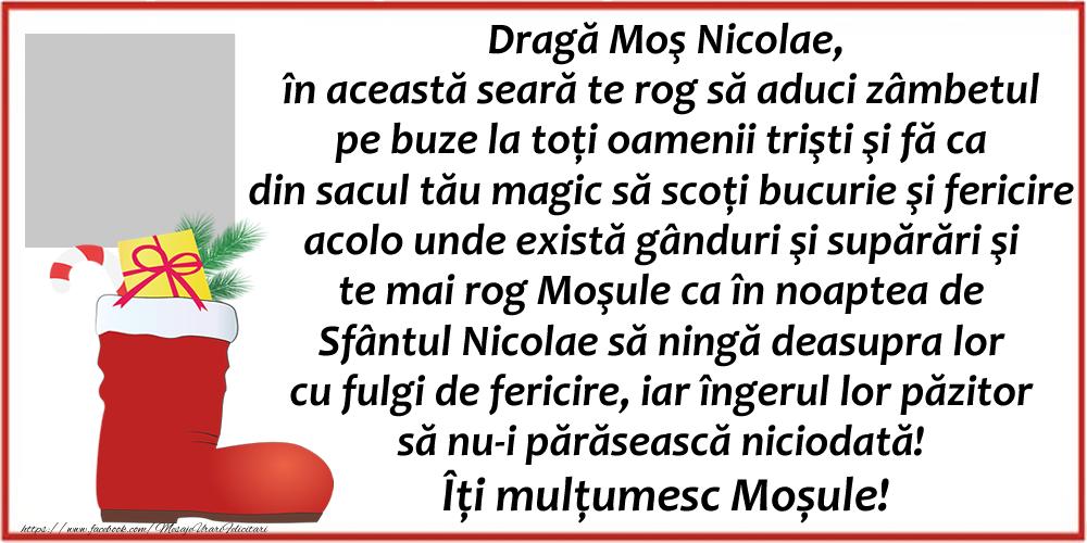 Felicitari personalizate de Mos Nicolae - Dragă Moş Nicolae...