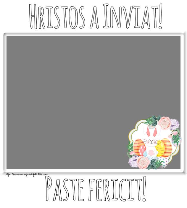 Felicitari personalizate de Paste - Hristos a Inviat! Paste fericit! - Rama foto