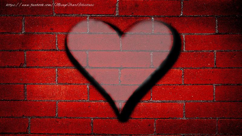 Felicitari personalizate cu poza ta - Inima pe perete