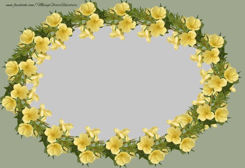 Felicitari personalizate cu poza ta - Rama foto cu flori
