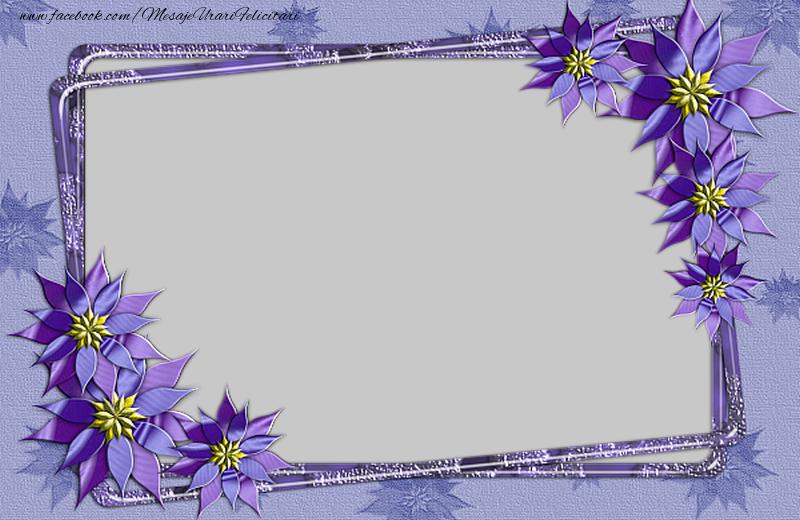 Felicitari personalizate cu poza ta - Fotografie personalizata cu flori