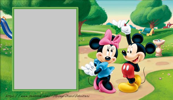Felicitari personalizate cu poza ta - Minnie and Mickey Mouse
