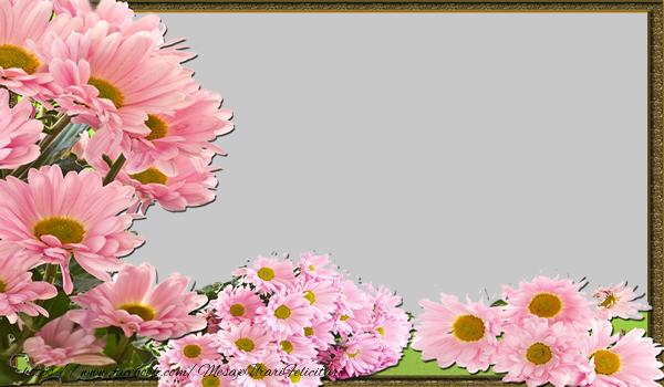 Felicitari personalizate cu poza ta - Felicitare personalizata cu poza flori