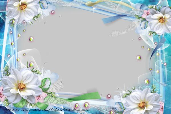 Felicitari personalizate cu poza ta - Felicitare cu flori