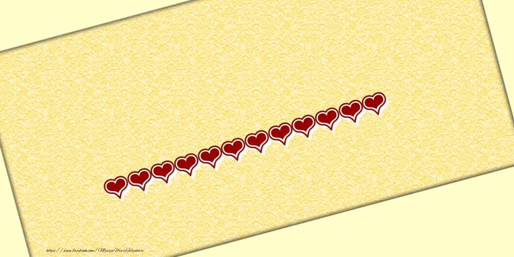 Felicitari personalizate cu numele tau - Poza cu numele ... - Scris cu inimioare