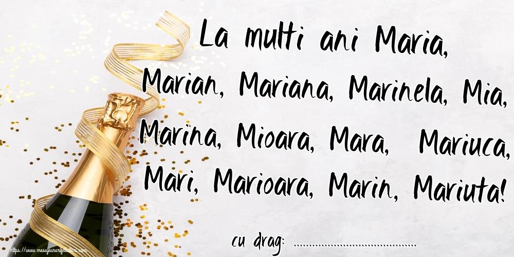 Felicitari personalizate de Sfanta Maria Mica - La multi ani Maria, Marian, Mariana, Marinela, Mia, Marina, Mioara, Mara,  Mariuca, Mari, Marioara, Marin, Mariuta! ...!