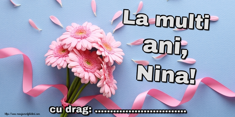 Felicitari personalizate de Sfanta Nina - La multi ani, Nina! ...