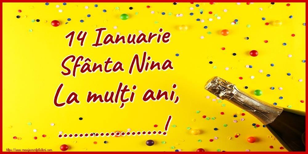 Felicitari personalizate de Sfanta Nina - 14 Ianuarie Sfânta Nina La mulți ani, ...!
