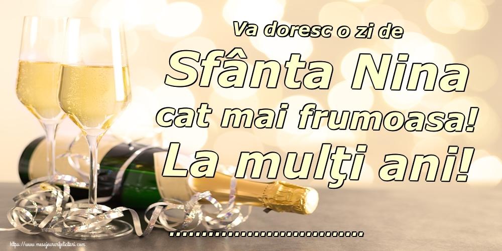 Felicitari personalizate de Sfanta Nina - Va doresc o zi de Sfânta Nina cat mai frumoasa! La mulţi ani! ...