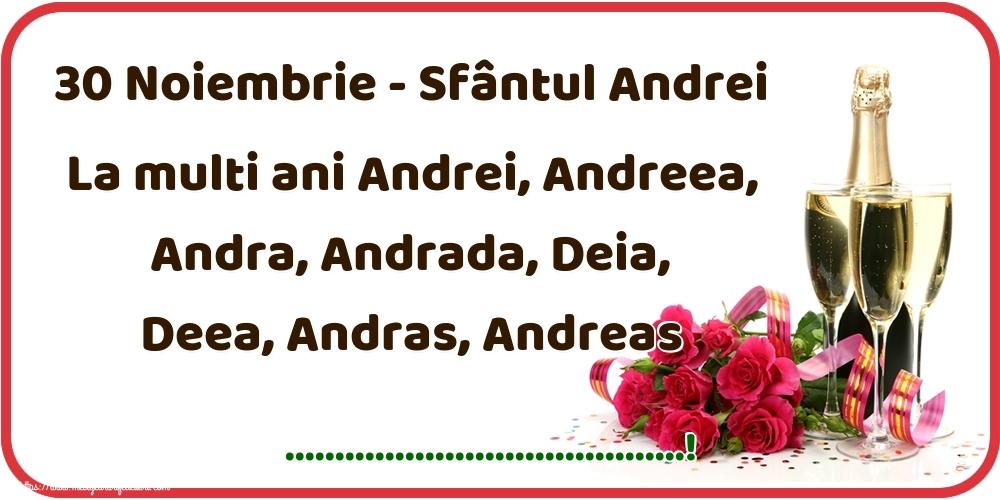 Felicitari personalizate de Sfantul Andrei - 30 Noiembrie - Sfântul Andrei La multi ani Andrei, Andreea, Andra, Andrada, Deia, Deea, Andras, Andreas ...!