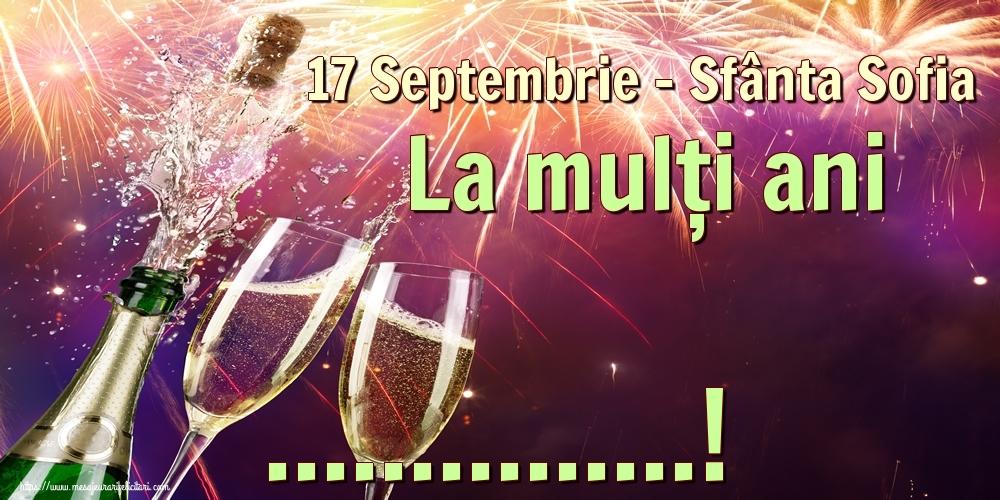 Felicitari personalizate de Sfânta Sofia - 17 Septembrie - Sfânta Sofia La mulți ani ...!