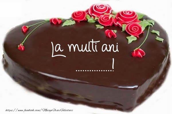 Felicitari personalizate de zi de nastere - Tort La multi ani ...!
