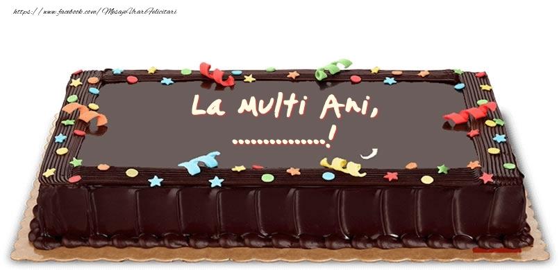 Felicitari personalizate de zi de nastere - Tort de zi de nastere pentru ...!