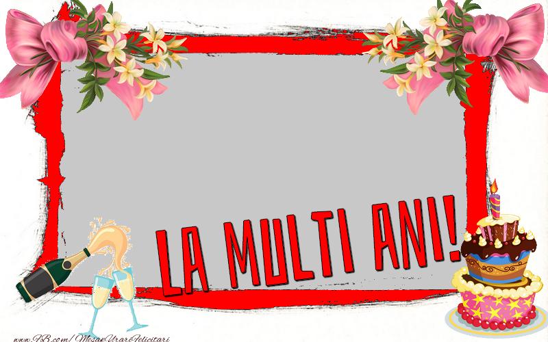 Felicitari personalizate de zi de nastere - Felicitare personalizata cu poza - La multi ani!
