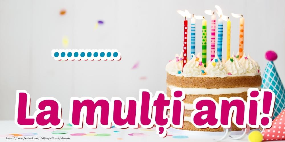 Felicitari personalizate de zi de nastere - La mulți ani! ...