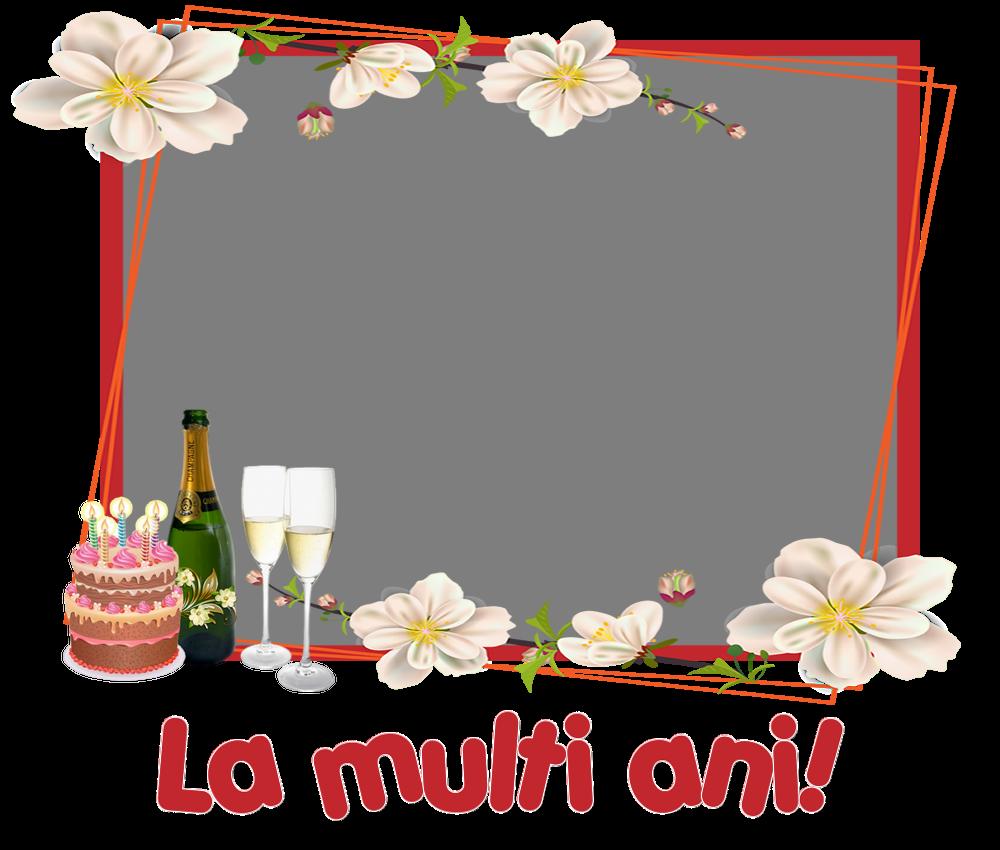 Felicitari personalizate de zi de nastere - La multi ani! - Rama foto