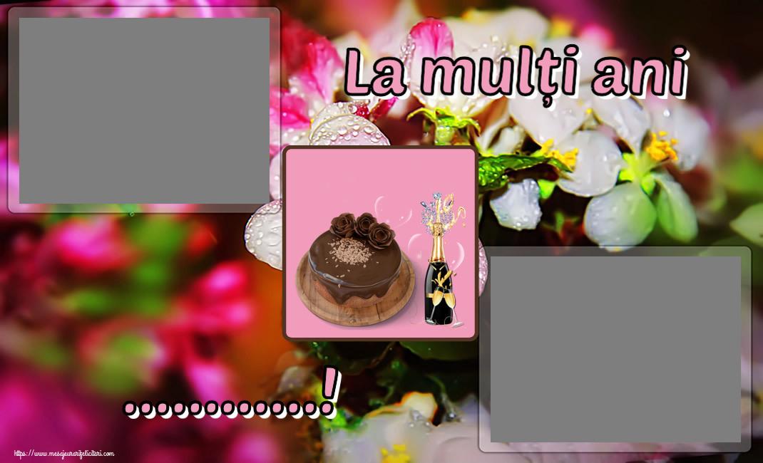 Felicitari personalizate de zi de nastere - La mulți ani ...! - Rama foto