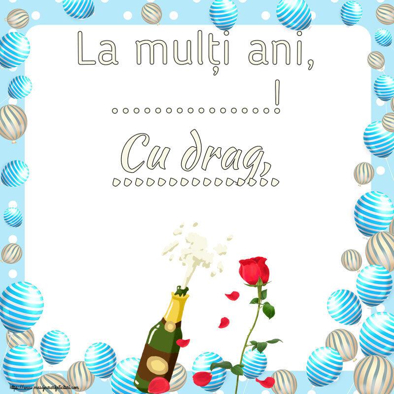 Felicitari personalizate de zi de nastere - La mulți ani, ...! Cu drag, ...