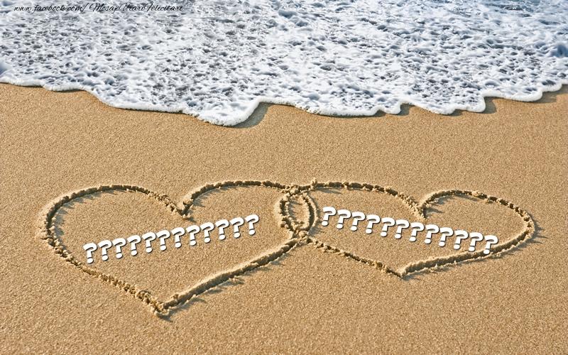 Felicitari personalizate Ziua indragostitilor - Nume pe nisip