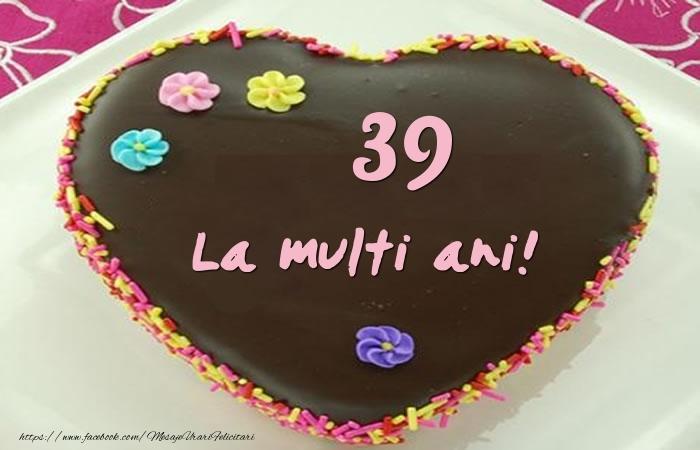 39 ani La multi ani! Tort